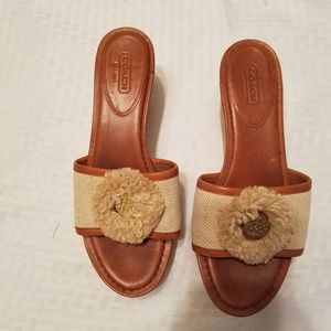 GUC Coach wedge espadrilles